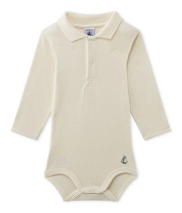 Baby-Jungen-Body mit Kragen beige Coquille
