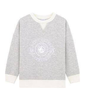 Kinder-Sweatshirt für Jungen grau Beluga
