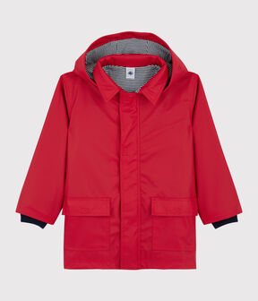 Kinder-Regenjacke, Mädchen - Jungen rot Terkuit