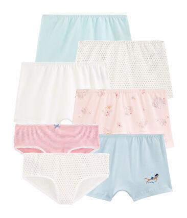 Überraschungsbeutel mit sieben Unterhosen für kleine Mädchen lot .