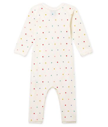 Baby Mädchen Body mit langen Beinen in Rippstrick weiss Marshmallow / weiss Multico
