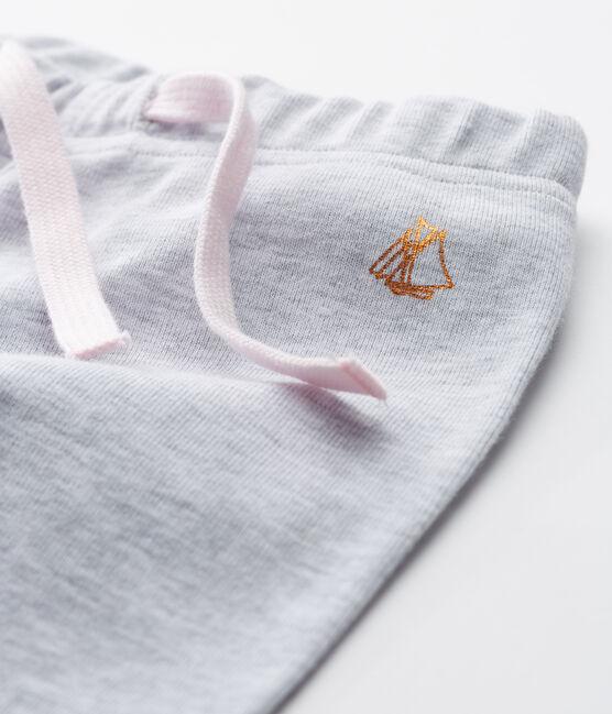 Babyhose aus Strick für Mädchen grau Poussiere Chine