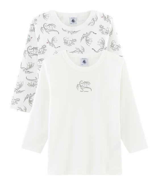 2er-Set langärmlige T-Shirts für kleine Jungen lot .