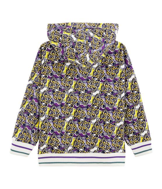 Kinder-Sweatshirt mit Reißverschluss für Jungen weiss Marshmallow / weiss Multico