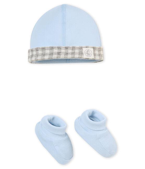 Baby Jungen Mütze und Schuhe im Set blau Fraicheur