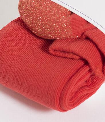 Kinder-Strumpfhose Mädchen rot Signal