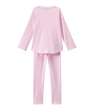 Mädchen-Schlafanzug im Milleraies-Ringelmuster