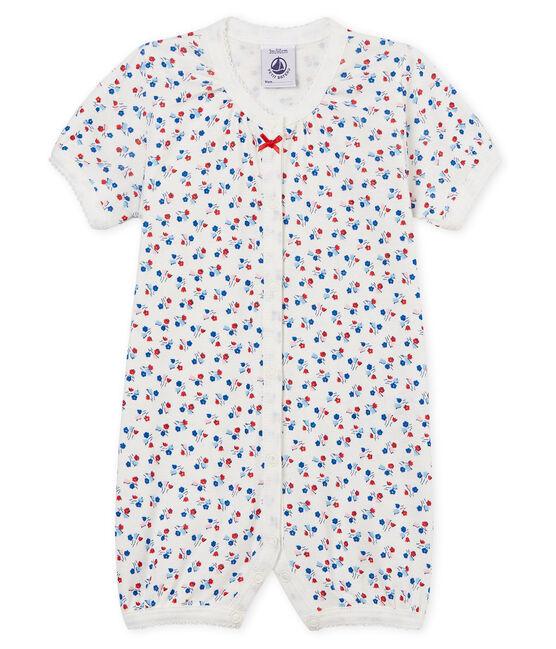 Baby-Kurzoverall Mädchen weiss Marshmallow / weiss Multico