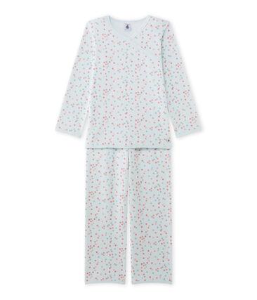 Mädchen-Schlafanzug aus Velours-Frottier
