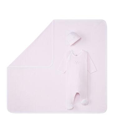 Unisex Baby Artikel aus 1x1 Rippstrick im Geschenkset
