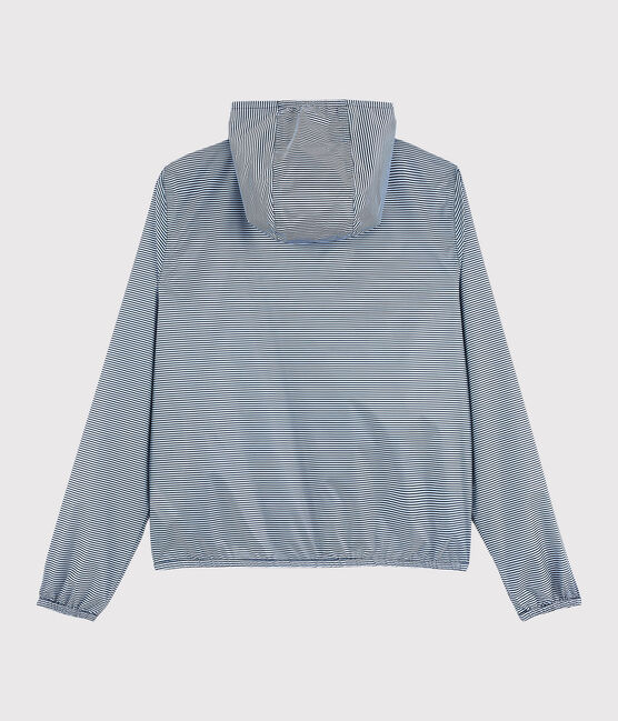 Windjacke für Damen, 3 in 1, recycelt blau Smoking / weiss Marshmallow