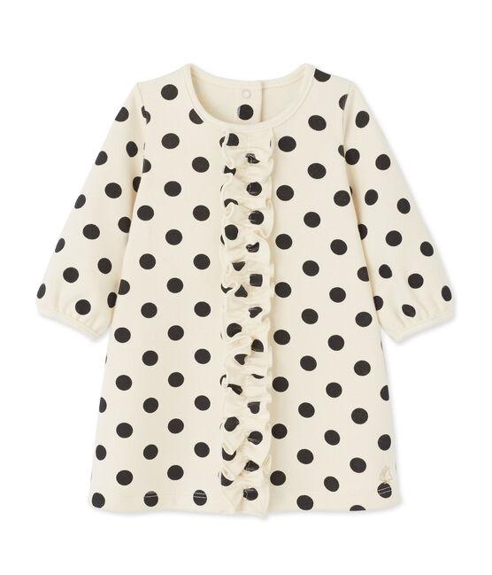 Robe bébé fille à pois beige Coquille / grau Capecod
