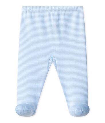 BABY-HOSE MIT FUSS, UNISEX, Uni blau Fraicheur / weiss Ecume