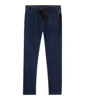 Kinder-Denim-Hose für Jungen blau Denim Bleu Fonce