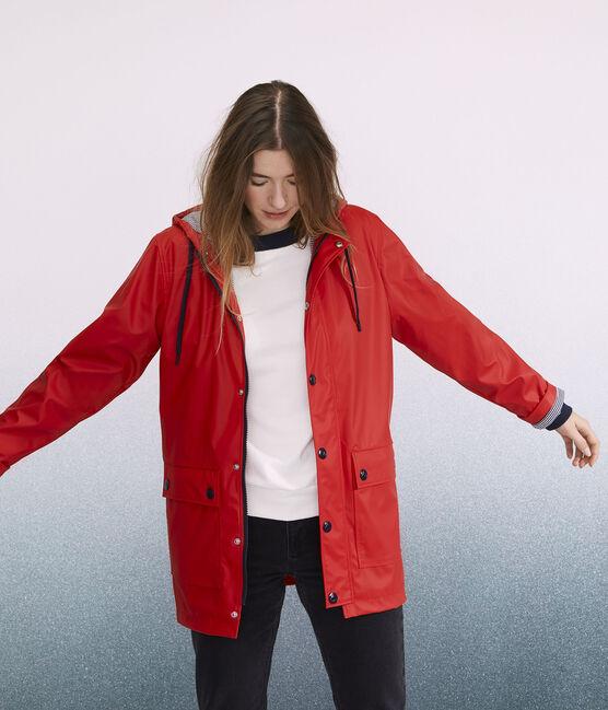 Damen-/Herren-Regenjacke rot Terkuit