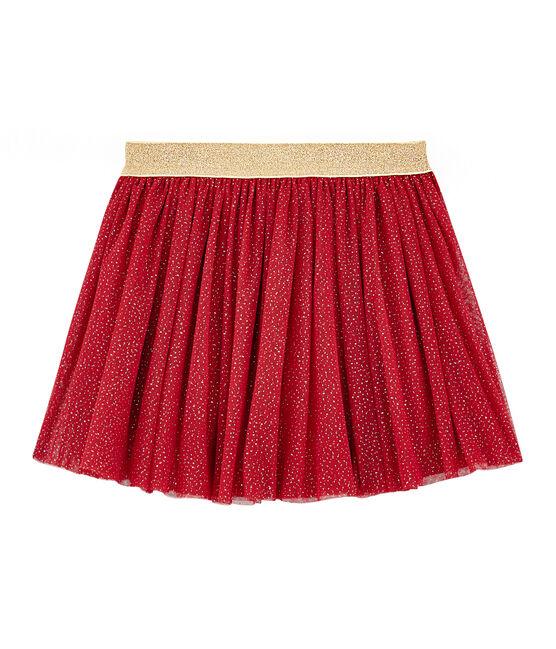 Rock aus Tüll für Mädchen rot Terkuit / gelb Or