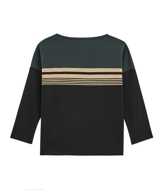 Damen Marinière mit abgestuften Streifen schwarz Noir / weiss Multico