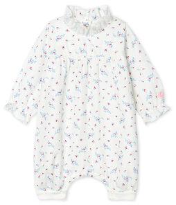 Baby-Overall aus Windelstoff für Mädchen weiss Marshmallow / weiss Multico