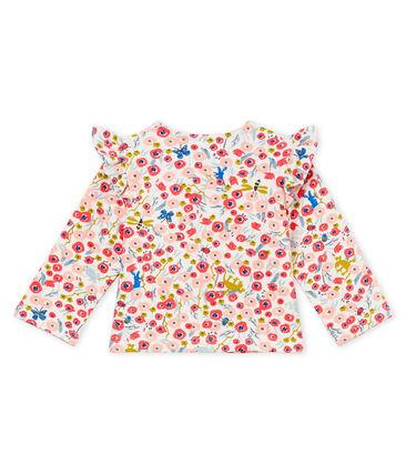 Gemusterter baby-strick-cardigan mädchen