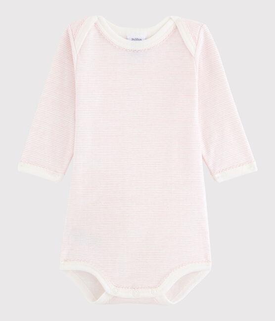 Langärmeliger Baby-Body Mädchen LAIT/BABYLONE