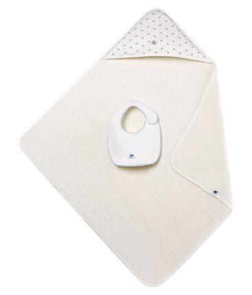 Box mit quadratischem Baby-Badetuch und -Lätzchen für Jungen