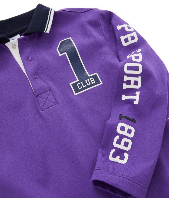 Kinder-Poloshirt für Jungen violett Real