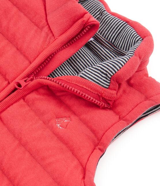Ärmellose Baby-Jacke aus gestepptem Doppeljersey, Unisex rot Signal