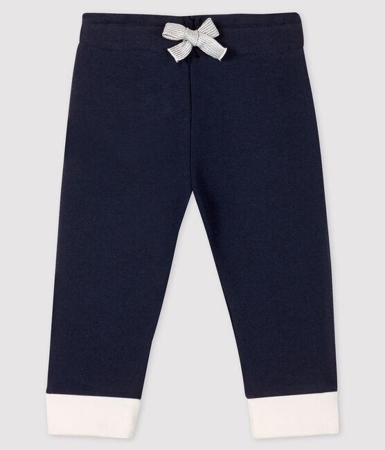 Baby-Leggings aus Molton für Mädchen blau Smoking