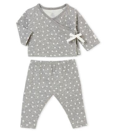 Baby MädchenEnsemble aus gedoppeltem Jersey mit Jacquard• Motiv