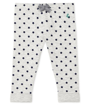 Baby-Hose aus bedrucktem Doppeljersey grau Beluga / blau Smoking