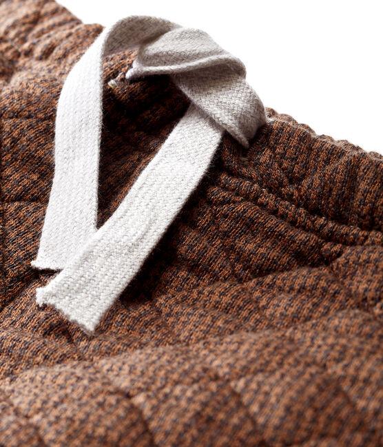 Baby-Hose aus Doppeljersey in Hahnentrittmuster für Jungen schwarz City / braun Cocoa