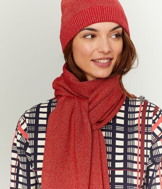 Glänzender Damenschal rot Terkuit / rot Terkuit Brillant