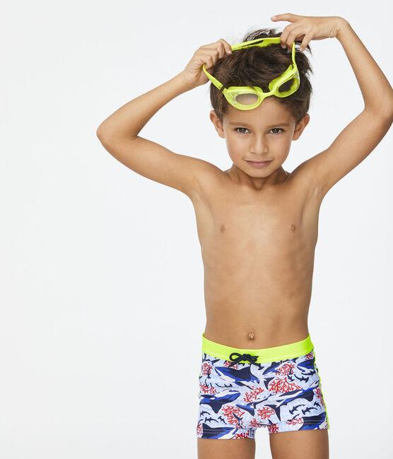 Umweltfreundliche Badehose Kinder Jungen weiss Marshmallow / weiss Multico