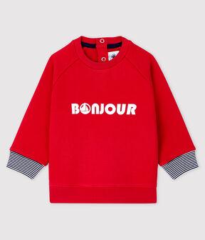 Gemustertes Baby-Sweatshirt für Jungen rot Terkuit