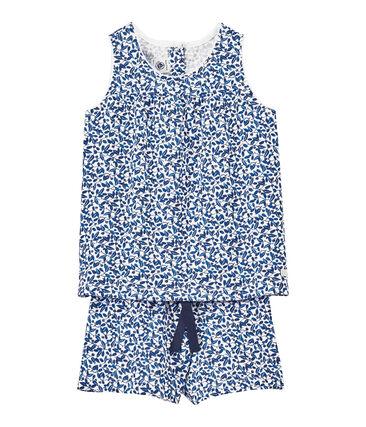 Kurzer bedruckter Mädchen-Schlafanzug aus feinem Jersey