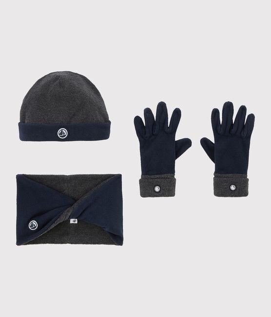 Fleece-Set für Mädchen und Jungen grau Subway / blau Smoking