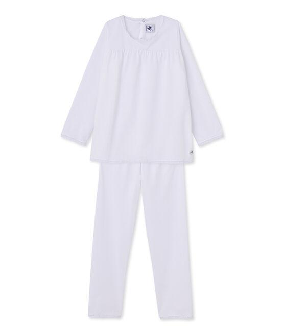 Pyjama fille à pois weiss Ecume