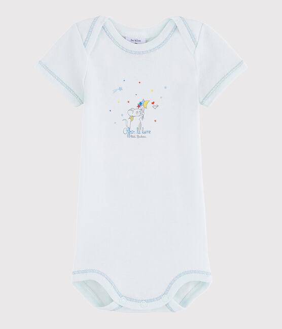 Kurzärmeliger Baby-Body Jungen blau Bocal