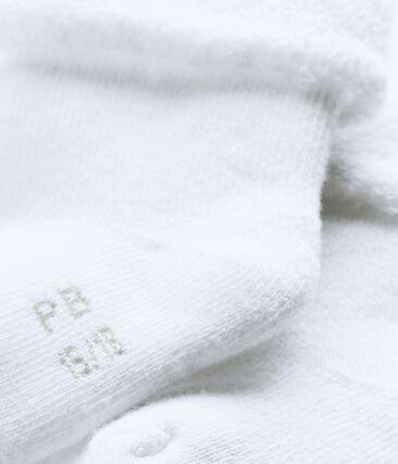 Socken aus weichem, bequemem Frottee. weiss Ecume