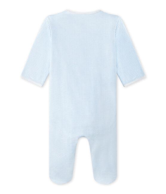Unisex-Baby-Body und Schlafanzug in einem blau Fraicheur / weiss Ecume