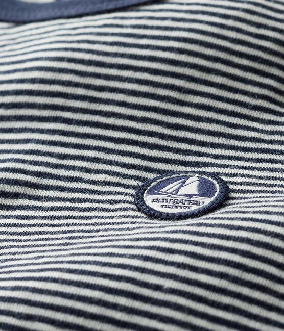 Baby-T-Shirt aus Doppeljersey für Jungen blau Smoking / beige Coquille