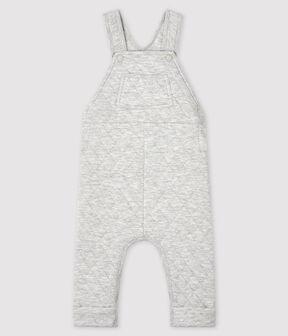 Lange Baby-Latzhose für Jungen grau Beluga