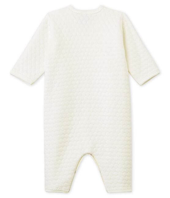Unisex Baby Strampler ohne Fuß aus gedoppeltem Jersey weiss Marshmallow