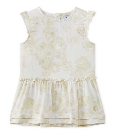Baby-Mädchen-Kleid aus Baumwollvoile mit Print