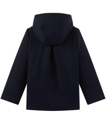 Mädchen-Dufflecoat aus Wolle blau Smoking