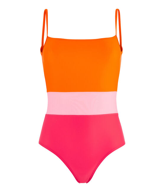 Umweltfreundlicher Badeanzug Damen rot Peps / weiss Multico