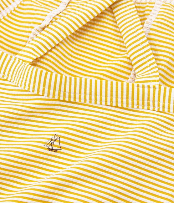 1-teiliger Kinder-Badeanzug Mädchen gelb Bamboo / weiss Marshmallow