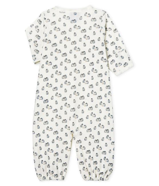 Kombi-Overall aus Rippstrick für Babys weiss Marshmallow / blau Toudou