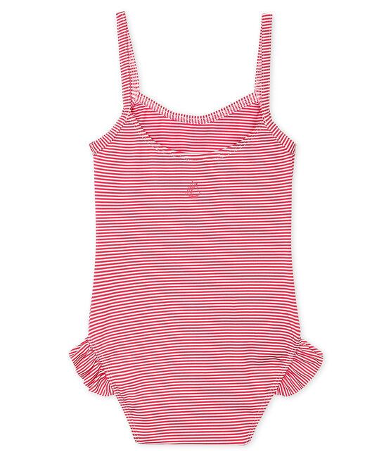 Badeanzug LSF 50+ Baby Mädchen rosa Geisha / weiss Marshmallow