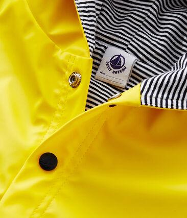 Einfarbiges Baby-Regencape Unisex gelb Jaune